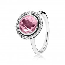 Anello cocktail in argento con zirconia cubica ros