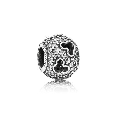 Disney, abstract silver PANDORA charm in Pavè, 791442CZ