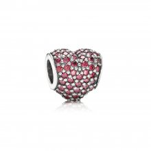 Charm Cuore in Pavé Rosso - Pandora IT