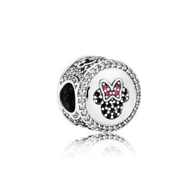 Disney, Charm PANDORA Mickey & Minnie scintillanti icone