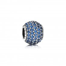 Charm Sfera in Pavé Blu - Pandora IT