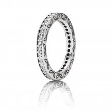 Anello Eternity in argento con zirconia cubica - 1