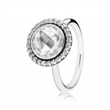 Anello cocktail in argento con zirconia cubica - 1