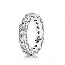 Anello Eternity In Argento Con Zirconia Cubica | P
