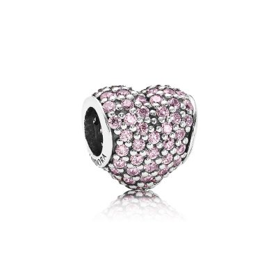 Charm Cuore in Pavé Rosa - Pandora IT