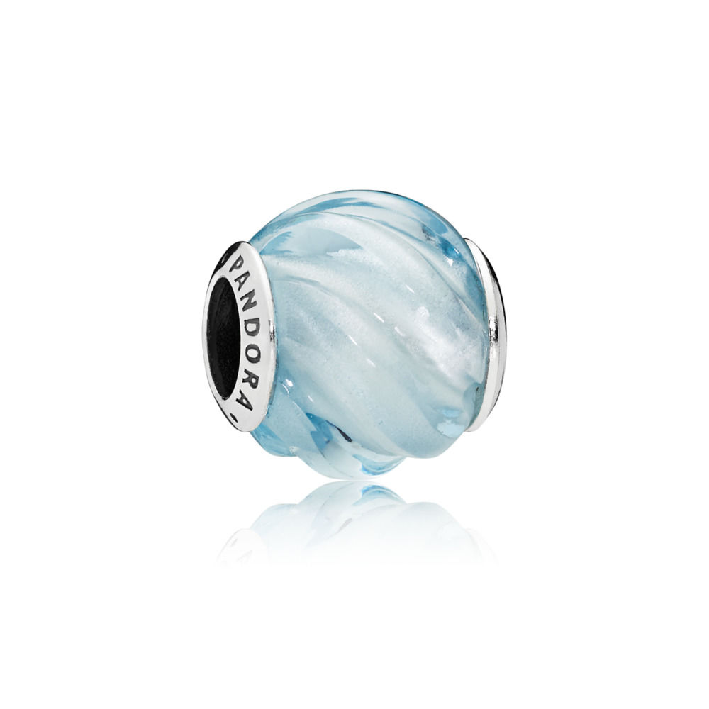 Charm Increspature Blu - PANDORA